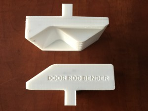 Rapid Prototyping services for Canada's 3D printing needs.  A functional door rod bender designed and 3D printed by 3D Print Western for our partner TK Truckbody in Edmonton, Alberta. Rapid prototyping Edmonton, Calgary, Toronto, Vancouver areas. Polycarbonate is great for functional parts and engineering prototypes due to its high strength and heat resistance. <a style=