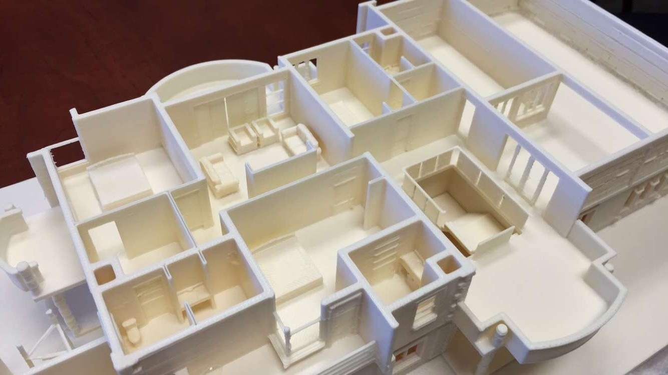 3d printed scale model of a mansion 3d print western